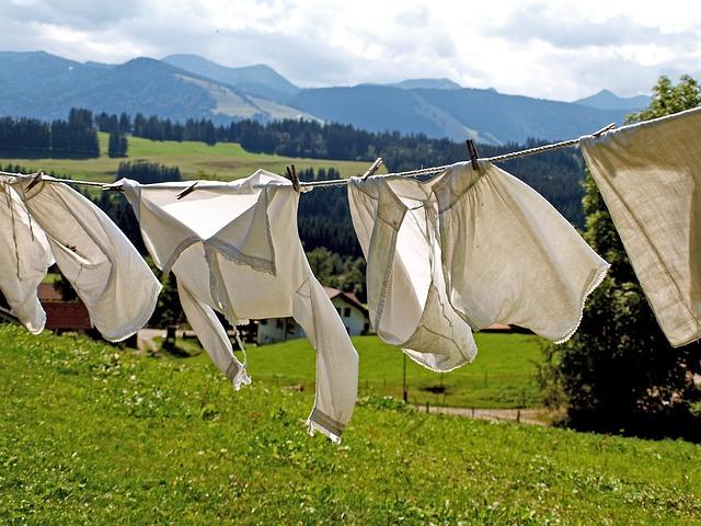 pletené šňůry na prádlo