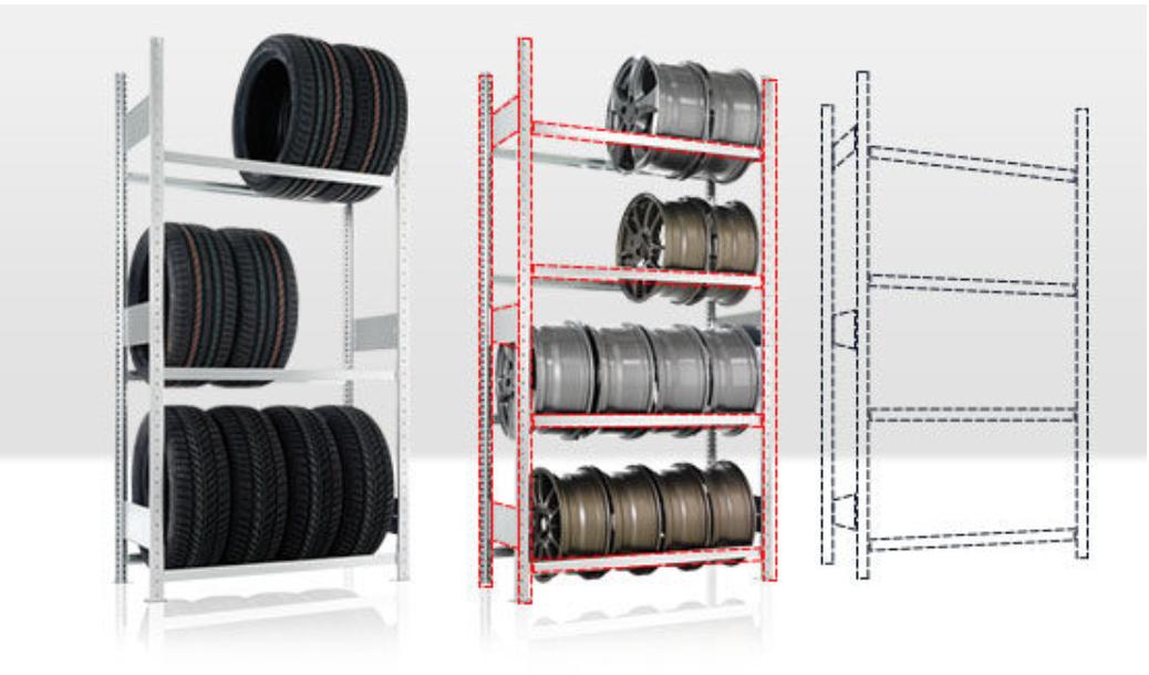 Regály na pneumatiky